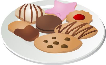 Assorted cookies Vector