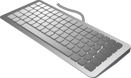 input device: teclado vista isom�trica en 3D, los dispositivo de entrada de color plata