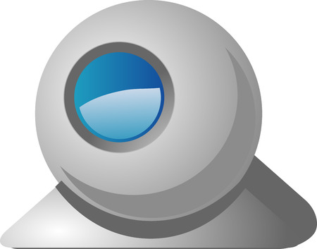 Computer webcam USB web camera round design Stock Vector - 3284708