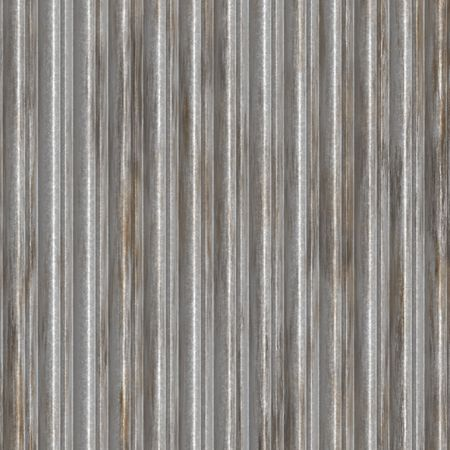 Corrugated metal surface with corrosion texture seamless background illustration  Stock Illustration - 3314854