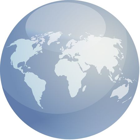 Map of the world in glossy colored sphere Stock Photo - 3334765