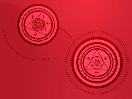 Wierd arcane symbols that look strange and occult Stock Photo - 3364197