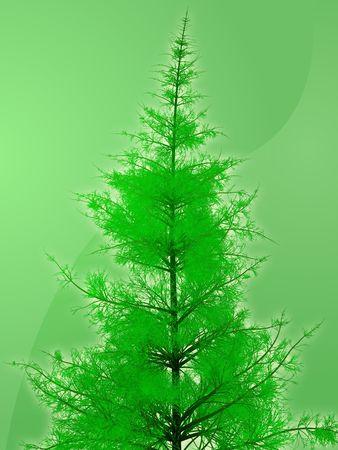 sillhouette: Illustration of pine tree, rendered sillhouette against gradient