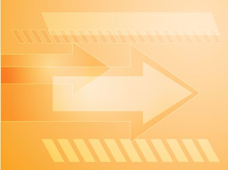 thrusting: Forward moving arrows pointing right, design illustration Stock Photo
