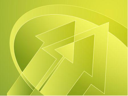 thrusting: Upwards forward moving arrows abstract design illustration