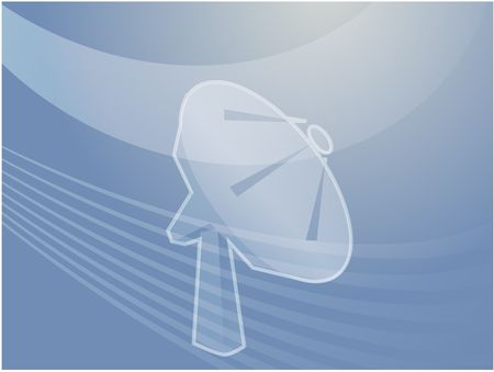 satellite transmitter: Illustration of a satellite dish, showing advanced communications Stock Photo