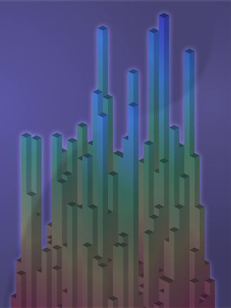 sheen: Abstract illustration wallpaper of 3d geometric shapes