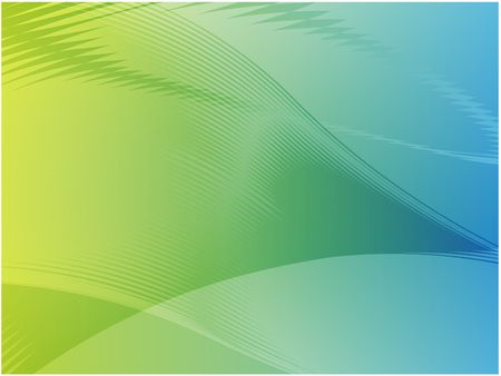 Abstract wallpaper illustration of wavy flowing energy and colors Stock Illustration - 3445849