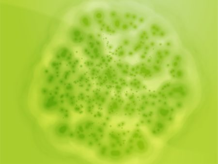 diseased: Illustration of bacterial cell growth diseased cellular material Stock Photo