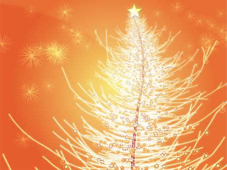 sparkly: Sparkly christmas tree, abstract graphic design illlustration Stock Photo