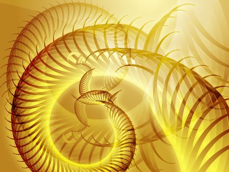circling: Abstract background design of swirling spiral fronds