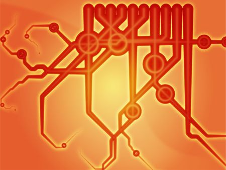 circuitry: Abstract technical schematic diagram illustration with circuitry and connection Stock Photo