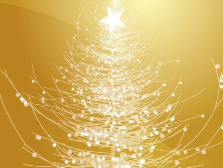 Sparkly christmas tree, abstract graphic design illlustration photo