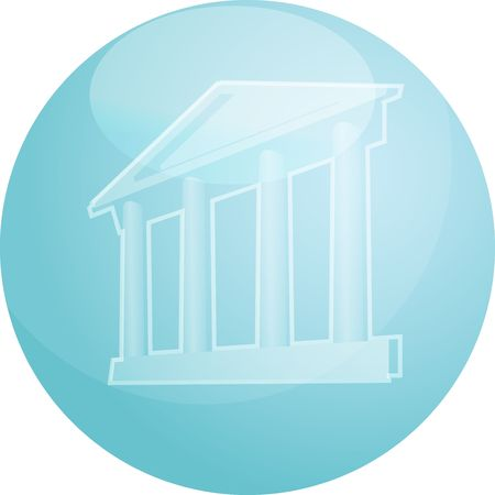 prominence: Illustration ofa grand building with pillars showing government finance or other establishments