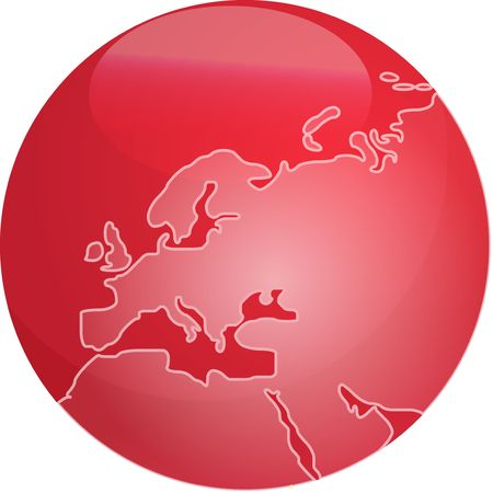 Map of Europe on a glossy sphere Stock Photo - 3499188