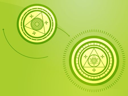 Wierd arcane symbols that look strange and occult Stock Photo - 3529909
