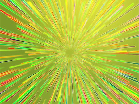 streaking: Central bursting explosion of dynamic lines of light