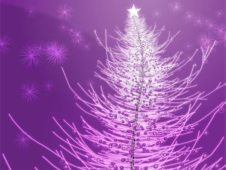 Sparkly christmas tree, abstract graphic design illlustration Stock Photo - 3529947