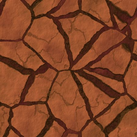 parched: Cracked parched earth ground surface texture illustration Stock Photo