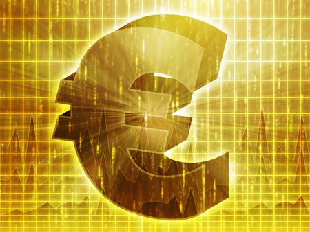 Euro currency symbol over financial chart diagram Stock Photo - 3530132