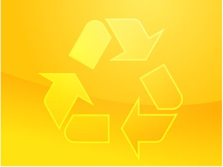 wastage: Recycling eco symbol illustration of three pointing arrows