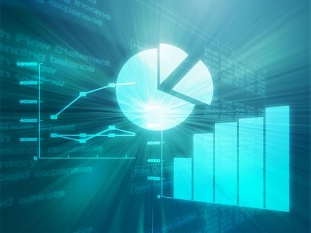 hoja de calculo: Ilustraci�n de datos de hojas de c�lculo y gr�ficos de negocios en estilo brillante alambre Foto de archivo
