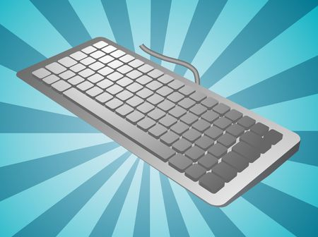 Computer keyboard peripheral hardware device illustration sketch Stock Illustration - 3637648