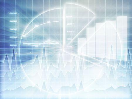 graficos de barras: Ilustraci�n de los datos de hoja de c�lculo y gr�ficos de negocios en estilo wireframe brillante