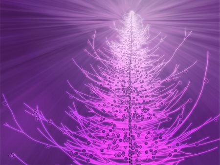 Sparkly christmas tree, abstract graphic design illlustration Stock Photo - 3656085