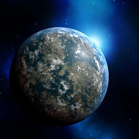 scienceficton: Illustration of planet earth on colored background