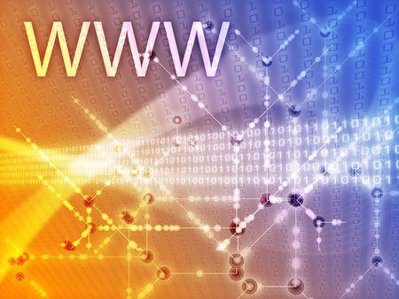 WWW World Wide Web illustration, Digital data transfer illustration
