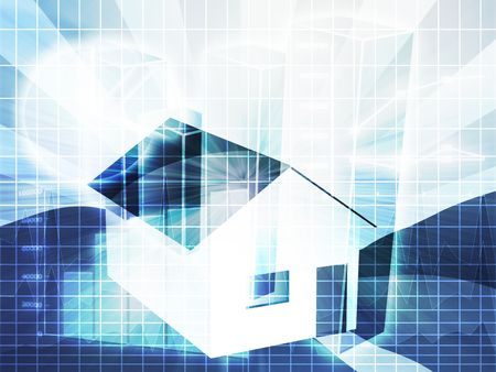 Financial charts with house, real estate analysis Stock Photo - 3666380