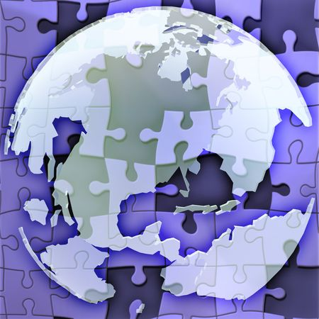 Map of the Americason spherical globe jigsaw puzzle photo
