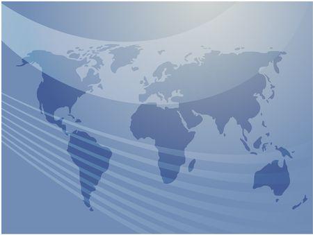 Map of the world illustration, abstract design Stock Illustration - 3692403