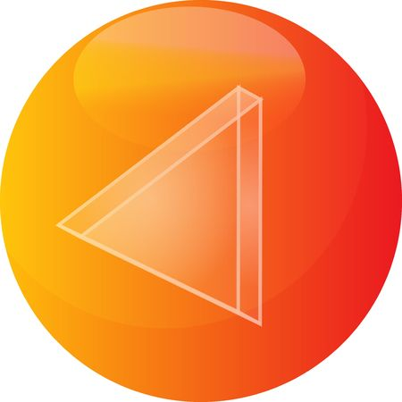 backwards: Rewind Audio icon illustration, triangle with line