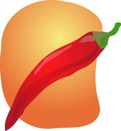 Sketch de un chile. Dibujados a mano lineas de buscar ilustraci�n Foto de archivo - 3692295