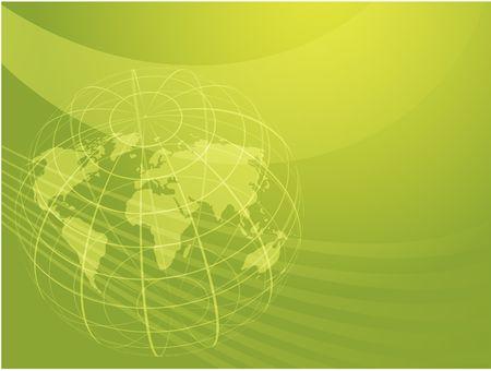 Map of the world illustration, with globe grid Stock Illustration - 3710322