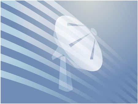 tele: Satellite dish clipart illustrating advanced tele communications Stock Photo