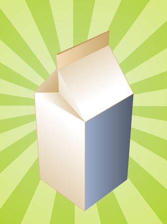milk carton: Milk carton illustration, plain drink container Stock Photo