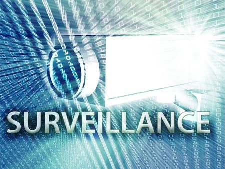 Security video camera digital surveillance equipment illustration Stock Illustration - 3725500