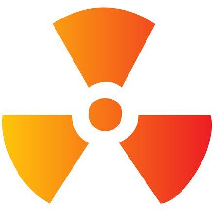 Illustration of radiation hazard warning alert symbol Stock Illustration - 3730665