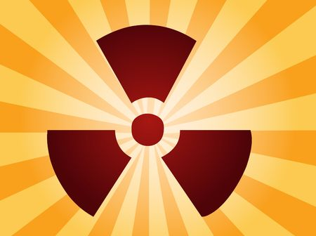 Illustration of radiation hazard warning alert symbol Stock Illustration - 3730715