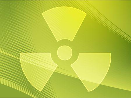 Illustration of radiation hazard warning alert symbol Stock Illustration - 3730824
