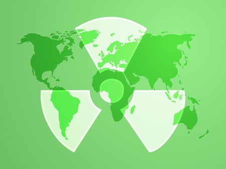 Illustration of radiation hazard warning alert symbol Stock Illustration - 3730717