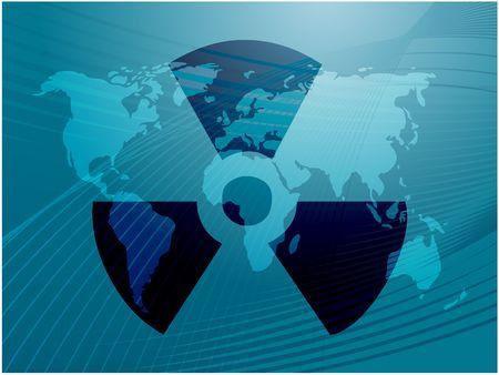 Illustration of radiation hazard warning alert symbol illustration