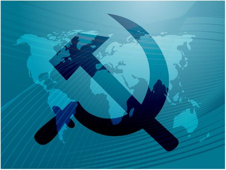political system: Soviet USSR hammer and sickle political symbol Stock Photo