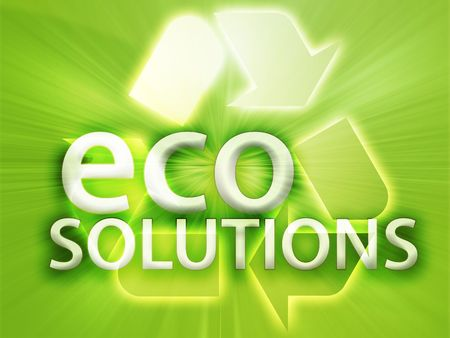 Recycling symbol, eco environment friendly sustainability illustration Stock Illustration - 3742595
