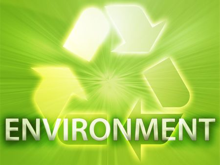 wastage: Recycling symbol, eco environment friendly sustainability illustration