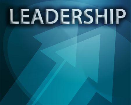 Leadership illustration, abstract management success concept clipart Stock Photo