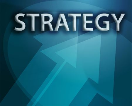 Strategy illustration, abstract management success concept clipart Stock Illustration - 3742550